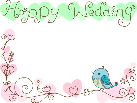 Blue bird _ frame _ wedding
