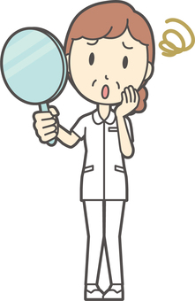 中年女護士白大衣-80-全身