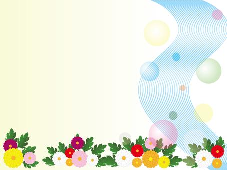 Chrysanthemum and river