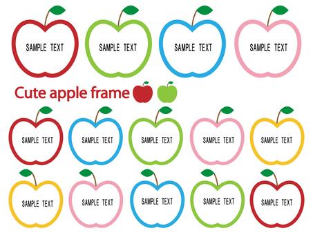 可愛的蘋果框架材料集