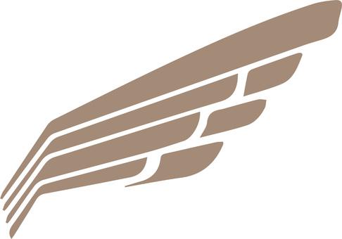 날개 아이콘 일러스트