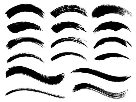 Ink brush curve material