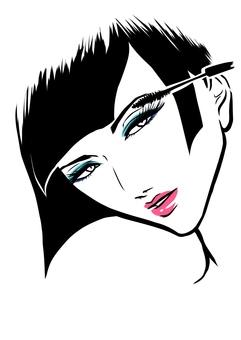 Cosmetic mascara illustration