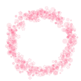 복숭아 꽃 마루 프레임