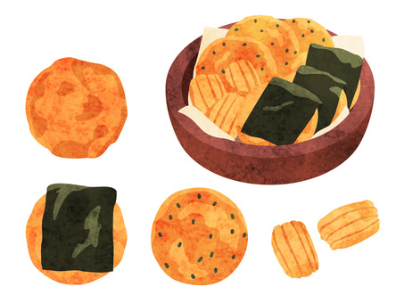 Cooking _ Japanese confectionery 餅 rice cake 餅 watercolor