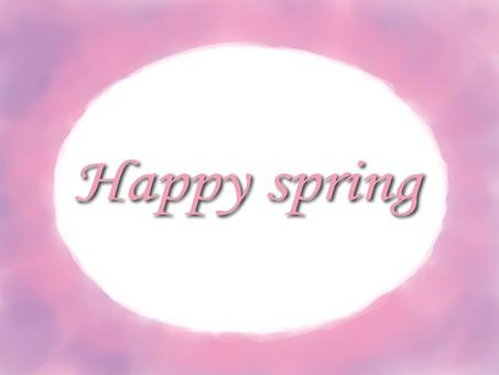 春天水彩框架