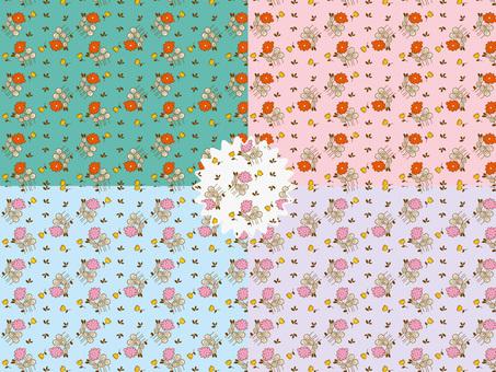 花模様の背景イラスト2