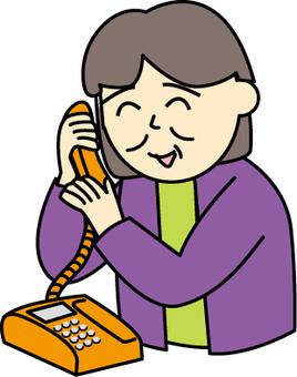 고정 전화 사용