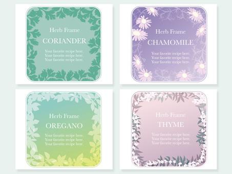 Herb frame 4 types 4