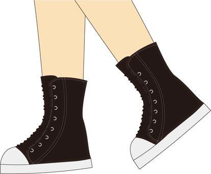 High cut sneakers