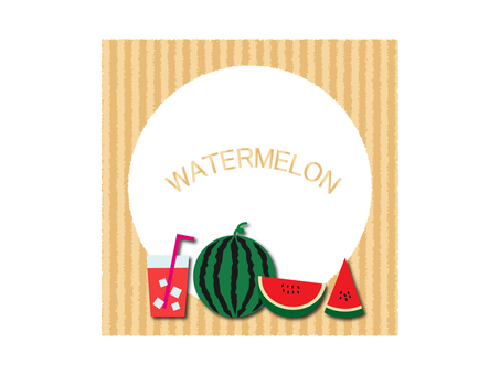 Illustration material of watermelon