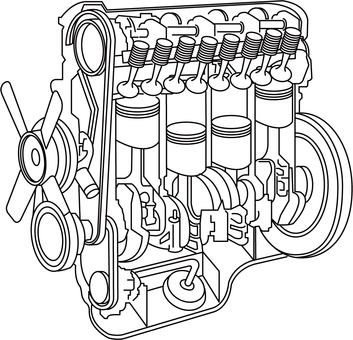 Engine explanation drawing