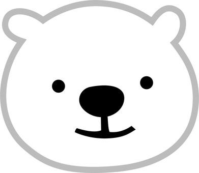 북극곰의 얼굴