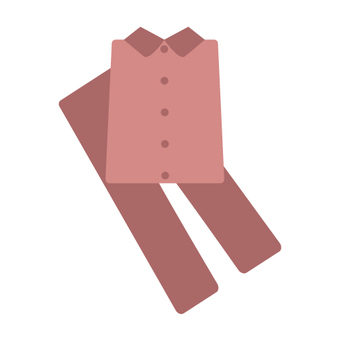 Pajamas (upper and lower set, warm color system)