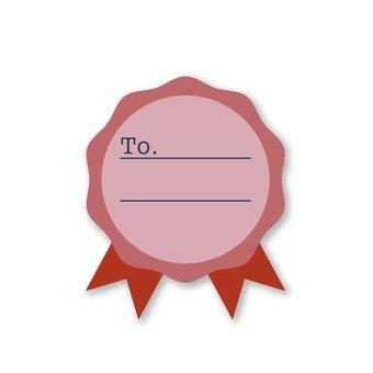 Message frame (pink emblem)