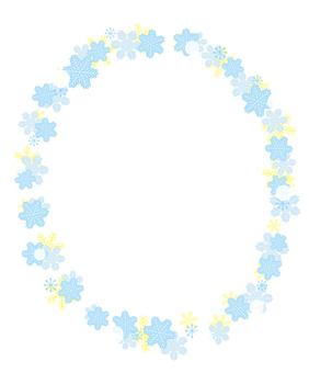 Snow crystal frame (ellipse)