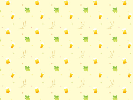 Beer pattern background wheat and hop