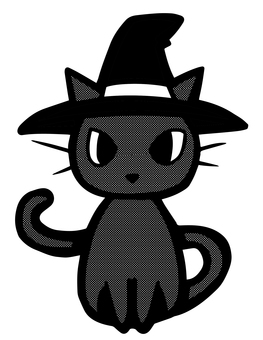 Cat 【B & W】 Halloween