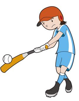 Softball batter girls