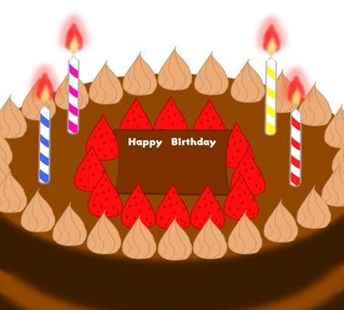 Birthday message, chocolate