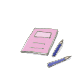 Illustration note and pencil