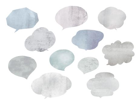 Watercolor blowoff gray