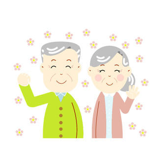Energetic grandpa and grandma