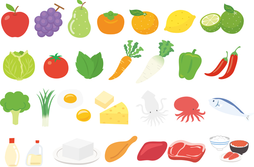 Assortment of ingredients