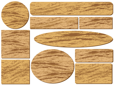 Illustration Wood grain background material collection
