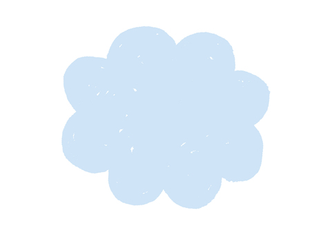 Sprinkle balloon _ clouds light blue