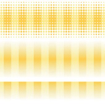 ドットグラデーション7・黄色