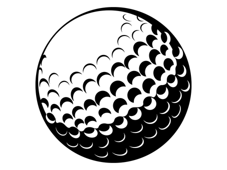 Golf ball silhouette