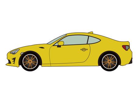 스포츠카 노란색