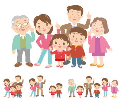家族の笑顔の秋冬編