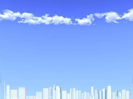 푸른 하늘과 고층 빌딩 _001