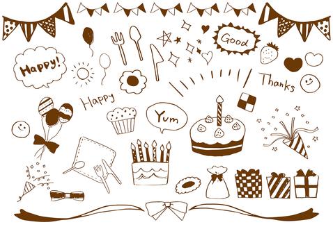 Handwritten illustration for celebration