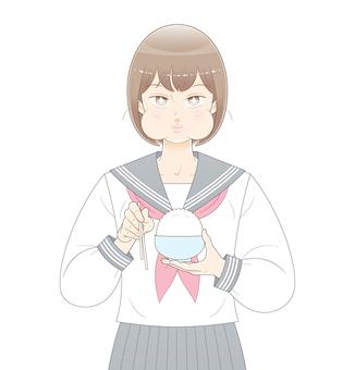 吃米的女孩