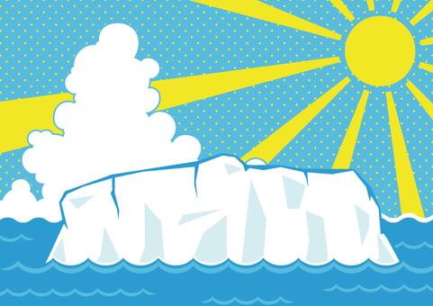 海と氷河1