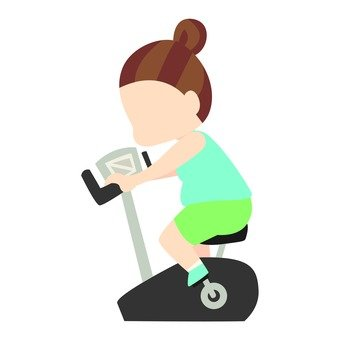 Diet - Chubby body woman riding in an aero bike (simple)