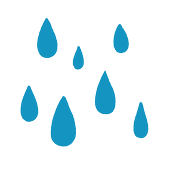 Many rain marks