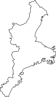 Mie prefecture _ line drawing