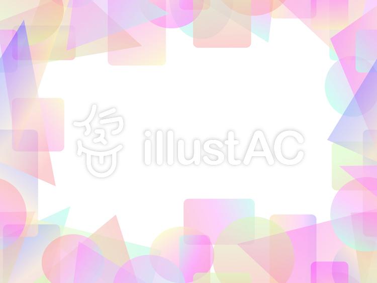 パステル調のカラフルな短形フレーム2b