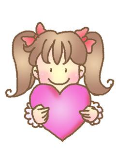 Heart and girl ②