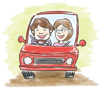 與父母和孩子一起開車