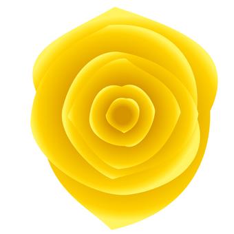 リアルな黄バラアイコン素材