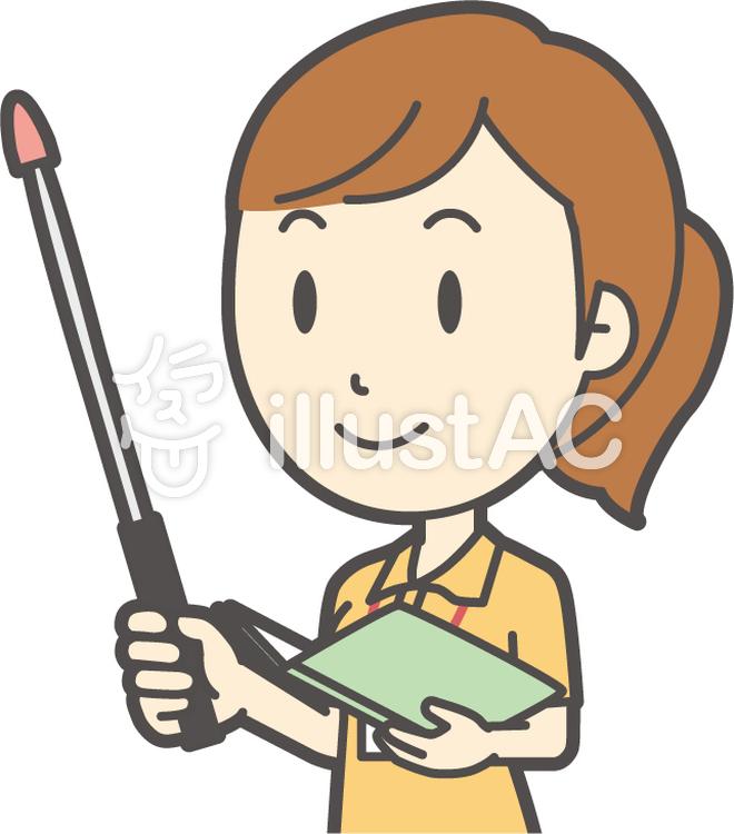 若者女性ヘルパー-227-バストのイラスト