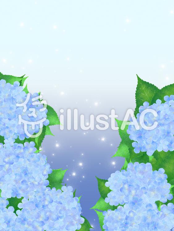 【フリーイラスト素材】お花・紫陽花の花