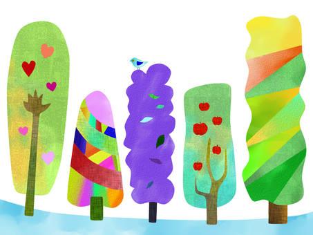 多彩的樹木