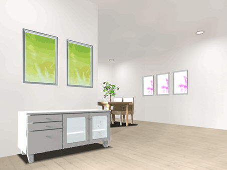 Living room with paintings 1