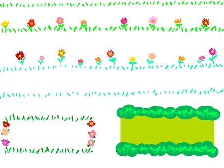 Flower grass frame